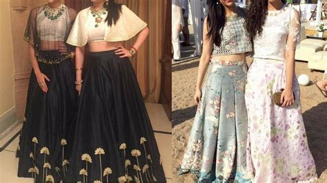 Party wear Long skirts with crop top   Indo western long
