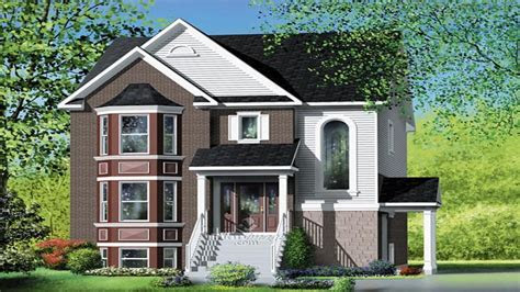 narrow multi family house plans multi family house plans