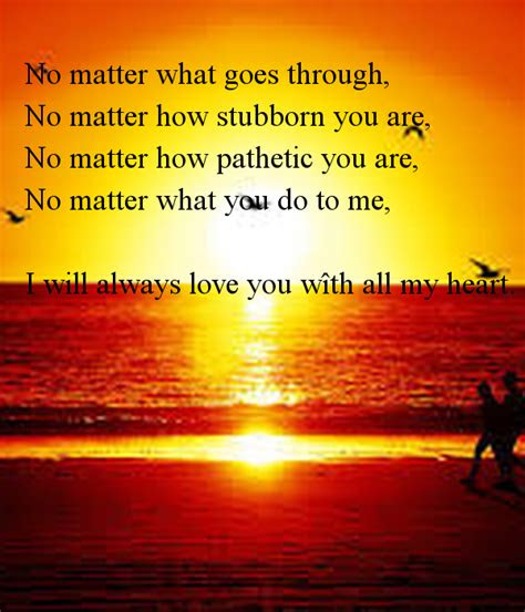 Love You Forever No Matter What Quotes