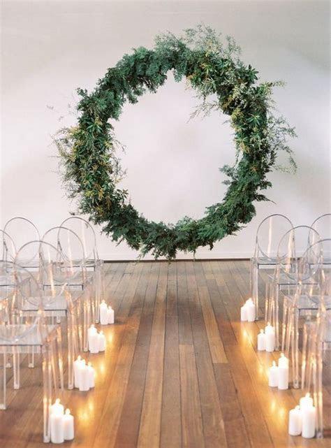 greenery giant wreath wedding arch   EmmaLovesWeddings
