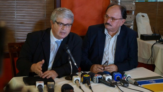 Ricardo Trade, CEO do COL, e José Vanildo, presidente da FNF - Copa do Mundo 2014 (Foto: Augusto Gomes)