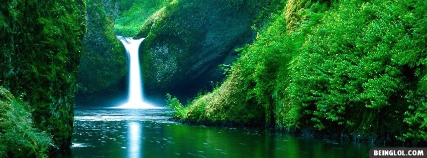Waterfall Top Facebook Cover Waterfall Top Cover 1662 Nature
