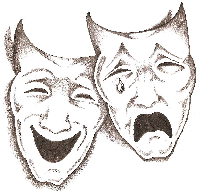 Drama Mask Drawing At Getdrawingscom Free For Personal Use Drama