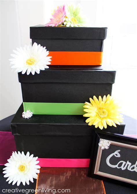 Black and Bright Wedding: Three Tier Wedding Card Box