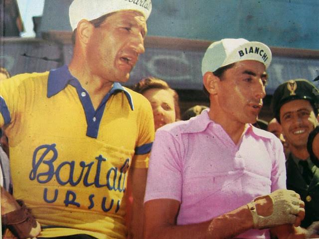 Gino Bartali y Fausto Coppi