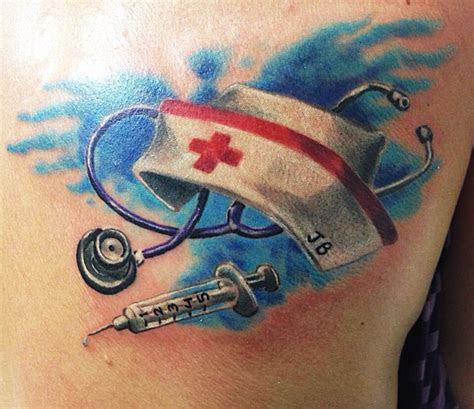 nurse tattoo figtastic rn tattoo tattoos sleeve tattoos