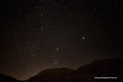 Júpiter y las Pléyades @ 14 mm