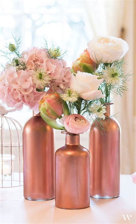 Decorating Glass Bottle Set   Clear   Wedding Table