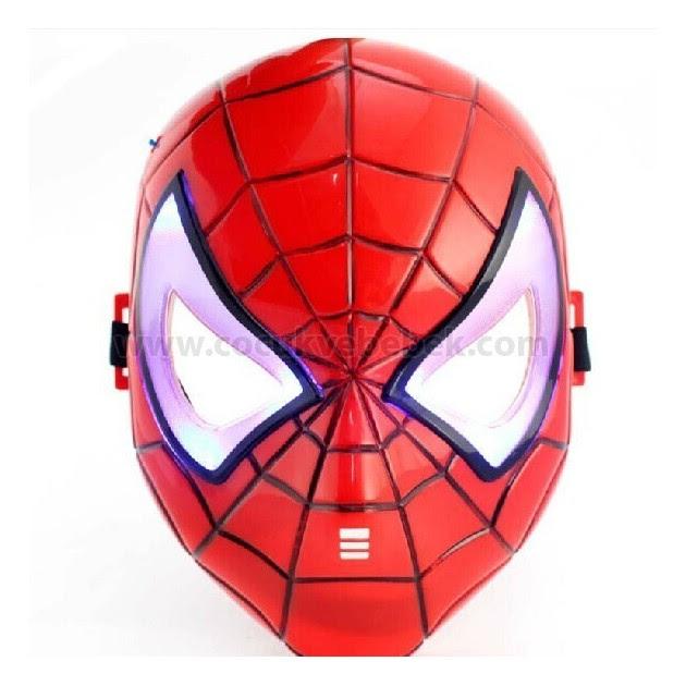 Spiderman Maske Işıklı Spider Man Maske