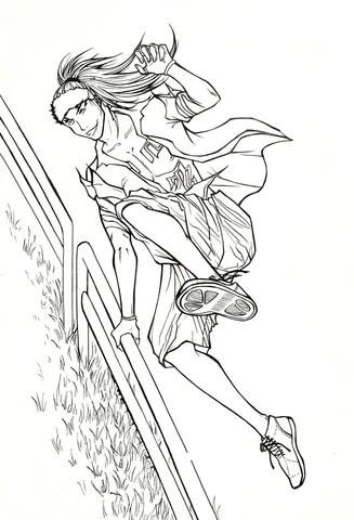 abarai renji from manga bleach coloring page  free