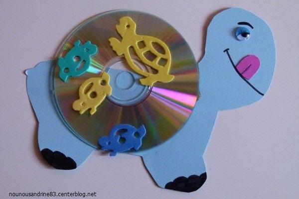 activité manuelle : tortue CD