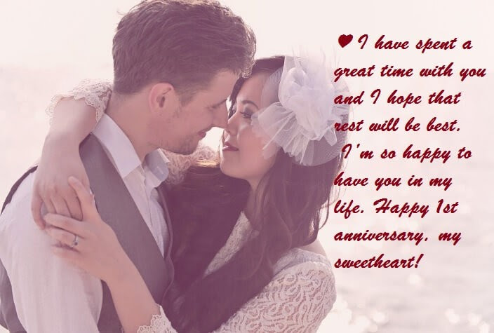 First Wedding Anniversary Wishes For Wife Quotes