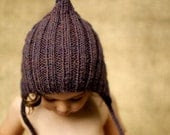 Chubby Pixie, Purple, Toddler Size. Handmade, Vintage-Inspired Woollen Hat - typicallyred