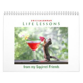 2013 Funny Squirrel Calendar