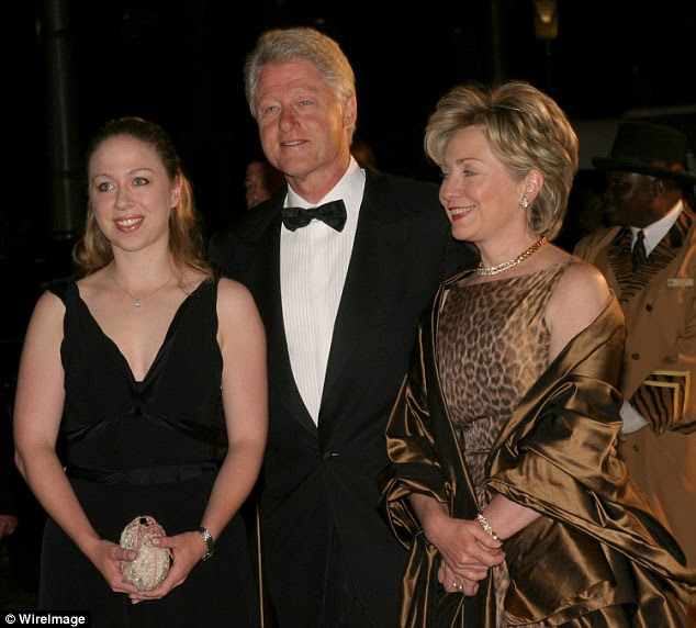 Chelsea Clinton, a 23-year old Oxford graduate (pictured left) with no experience, was given a six-figure consulting job, when aclose pal of Bill's, former board member of AIF, Rajat Gupta, was removed from his consulting position in 2003