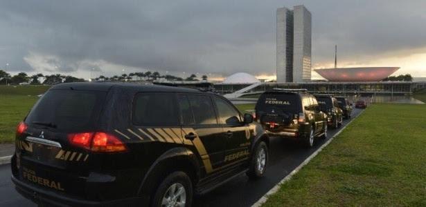 Agentes da PF foram ao Senado na manhã desta sexta-feira (21)