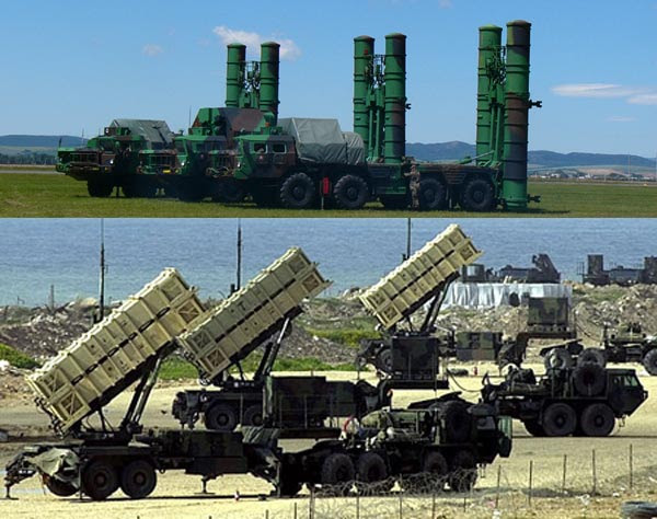 Image result for S-400 and MIM-104 Patriot photos