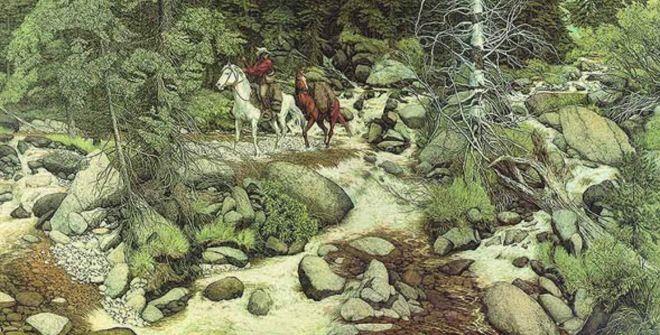 el paisaje con 13 caras escondidas