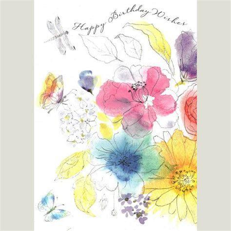 Watercolour Flowers Birthday Card   Cards   British Heart