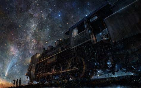 wallpaper iy tujiki art night train anime