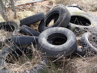 Heap of old tyres