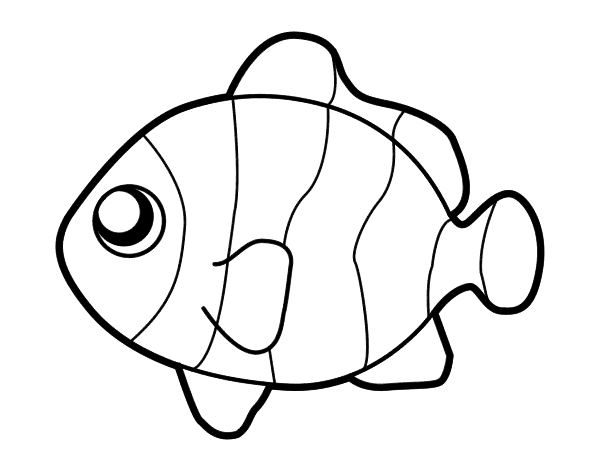 Clownfish coloring page - Coloringcrew.com