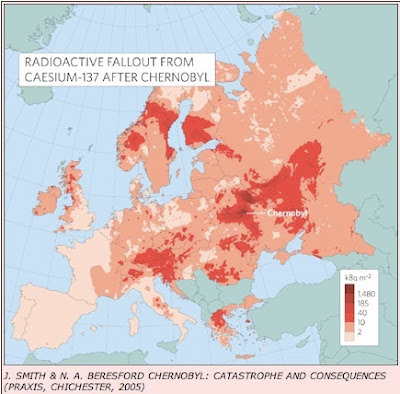 Wolke Tschernobyl Karte.Europkarten Zur Radioaktivität In Europa Durch Tschernobyl Zeigen