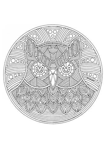 Dibujo De Mandala Lechuza Para Colorear Dibujos Para Colorear