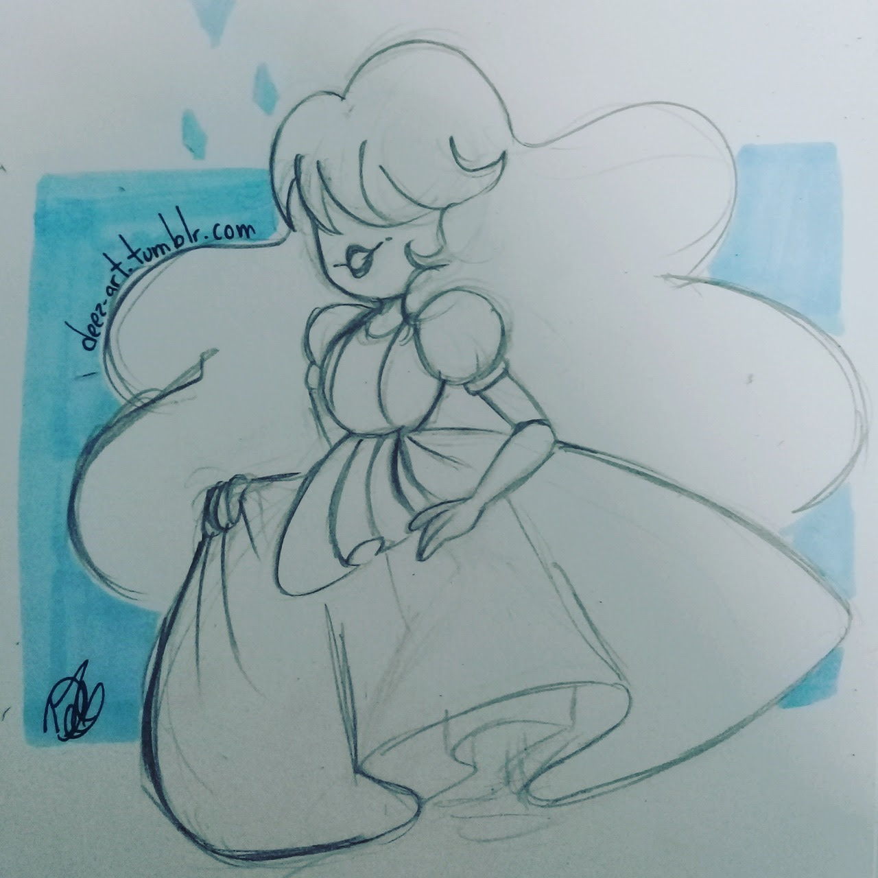 Steven Universe sketches I did this week.