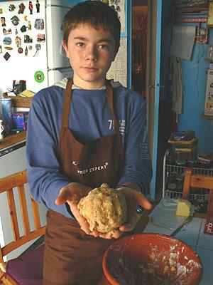 La pâte des cookies est prête !