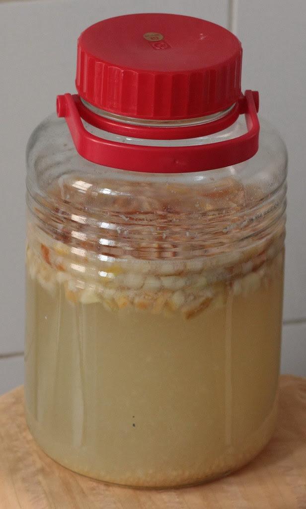 Wine fermenting in a bottle