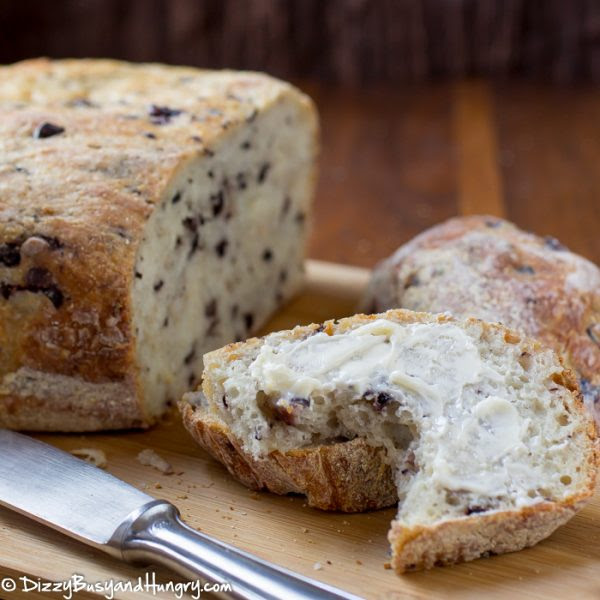 Dizzy Busy and Hungry Easy Slow Cooker Olive Parmesan Bread