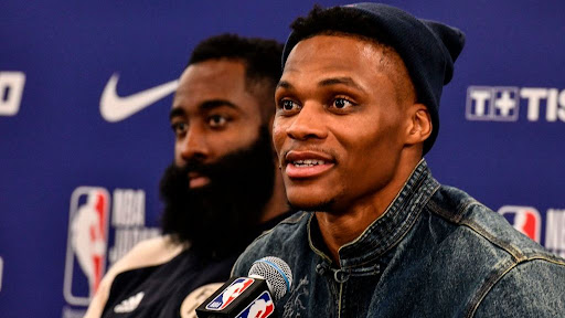Avatar of Political question to James Harden and Russell Westbrook shut down: 'Basketball questions only' (video)