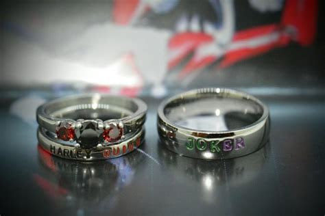 harley quinn  joker wedding rings wrocawski