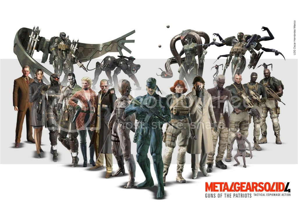 Metal Gear Solid 4 Characters Wallpaper Metal Gear Solid 4 Fan S