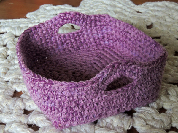 my first crocheted basket in many years