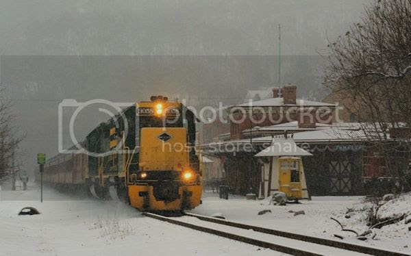 Winter Freight Train photo