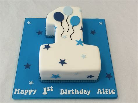 Small Number One Cake with Balloons   Children's Birthday