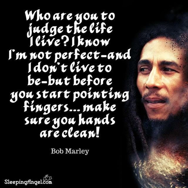 Bob Marley Quote Sleeping Angel