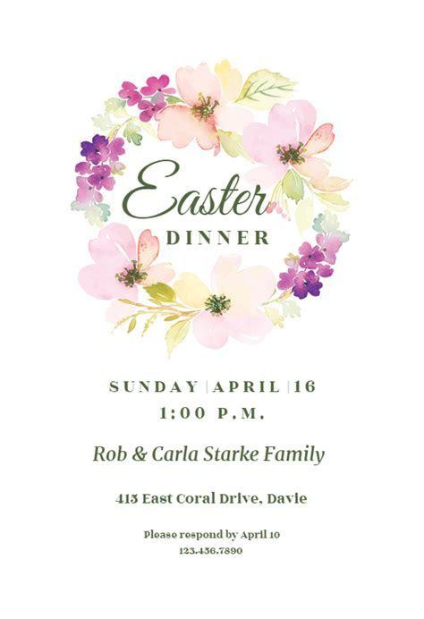 Joyful Wreath   Easter Invitation Template (Free