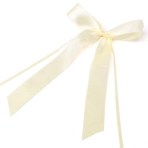50x Ivory Pull Bows Satin Ribbon Decorations Wedding Pew