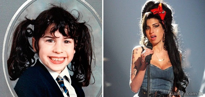 Fotos mostrando a infância dos grandes nomes do rock