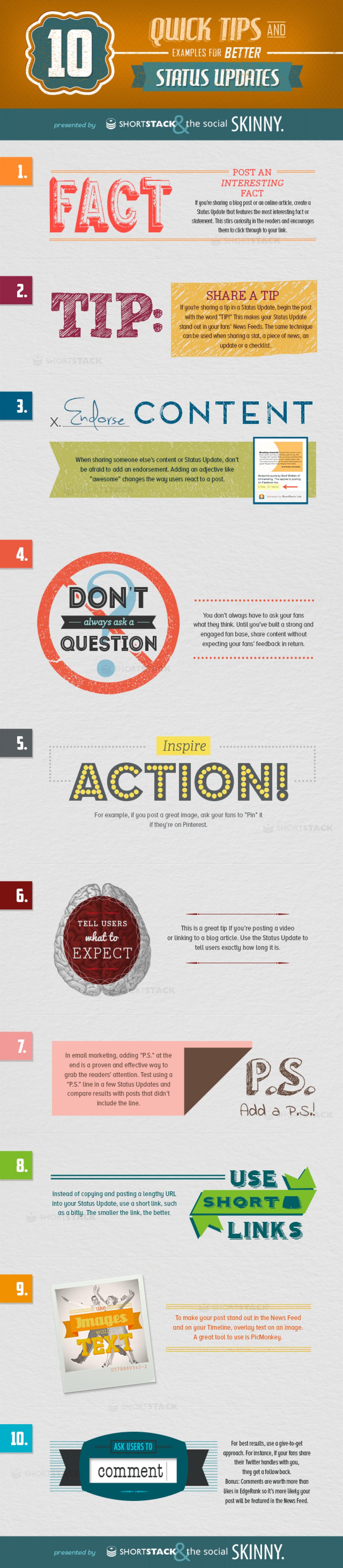10 Quick Tips for Better Social Media Updates - #Infographic #socialmedia