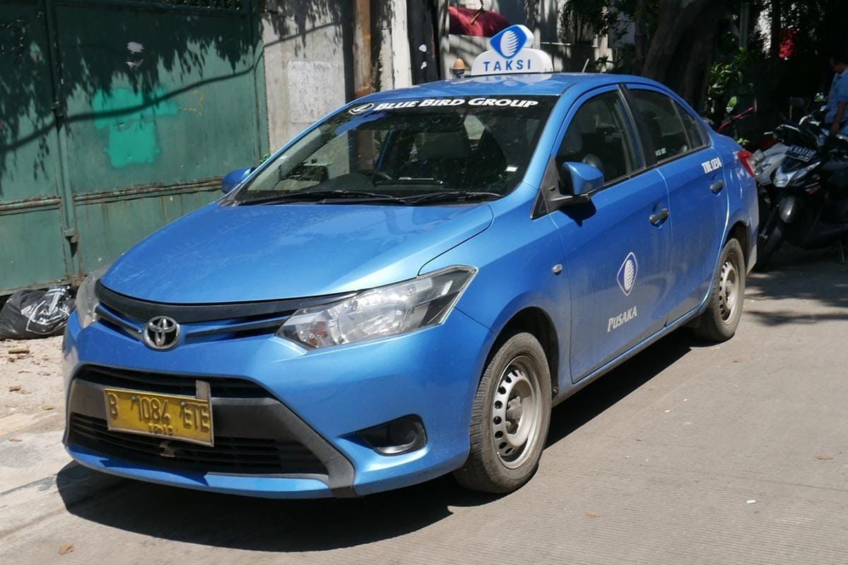 Fake Blue Bird taxi in Bali