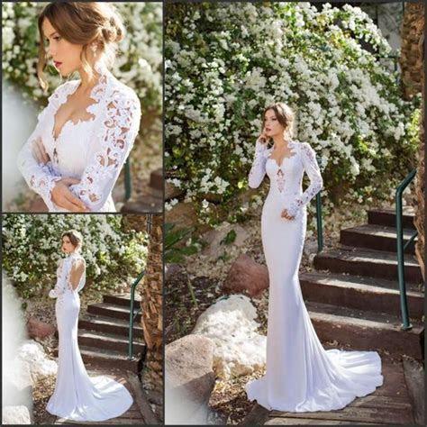 Long Sleeve Julie Vino 2015 Mermaid Lace Wedding Dresses