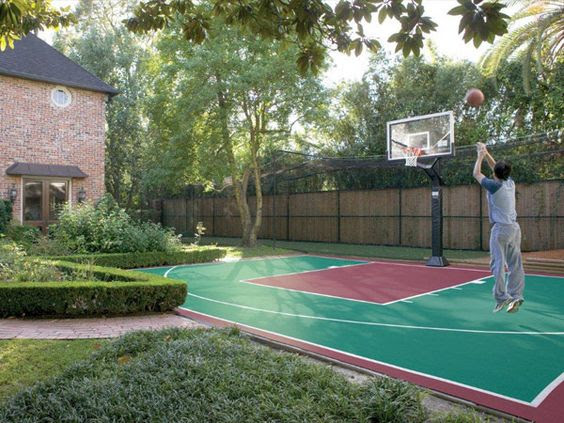 backyard basketball court ideas 18