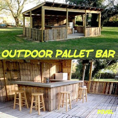 diy pallet bar  knew  created