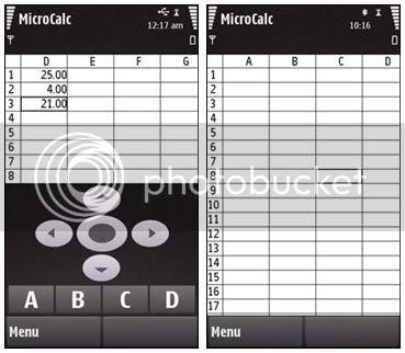N97 Nokia 5800 Spreadsheet Software Like Excel
