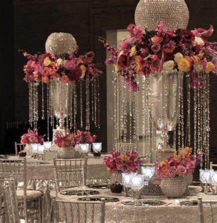 25  best ideas about Crystal wedding centerpieces on