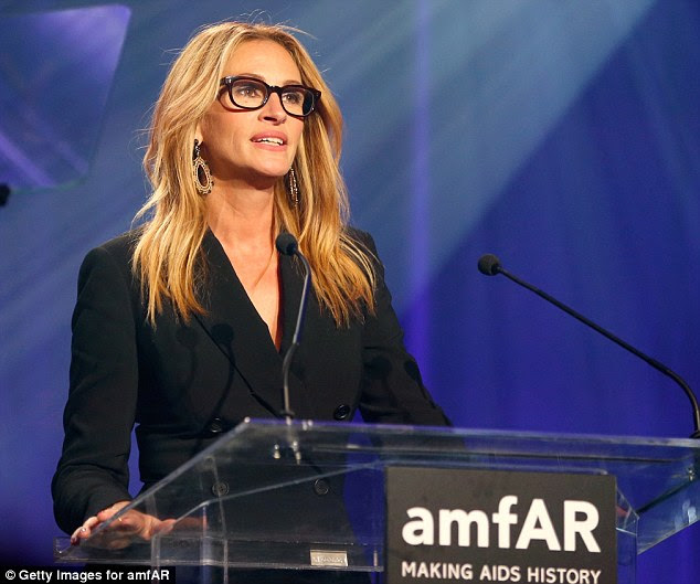 Oscar vencedor: Julia Roberts também falou no palco durante a gala